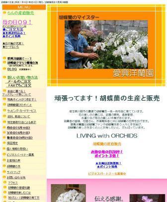 胡蝶蘭の生産と販売 胡蝶蘭農家の愛興洋蘭園