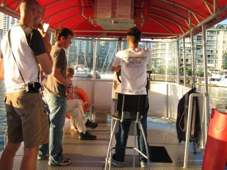 アクアバスの船内です。