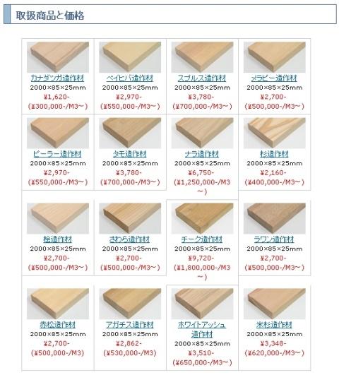 無垢造作材の取扱商品です。造作材.comで直販をしております。クリックすると造作材.comにリンクしています。
